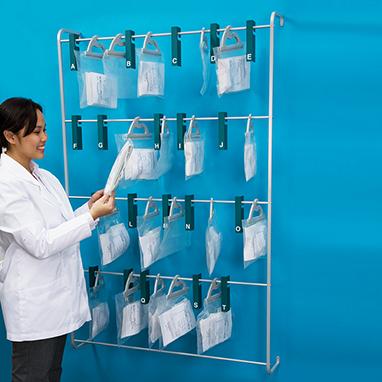 Item 17543 Wall Rack For Prescription Bags