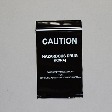 Item 18488 Caution Hazardous Drug Rcra Bags 4 X 6