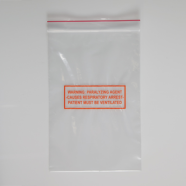 item 20097 warning paralyzing agent bags 6 x 9