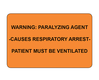 item 2296 warning paralyzing agent labels