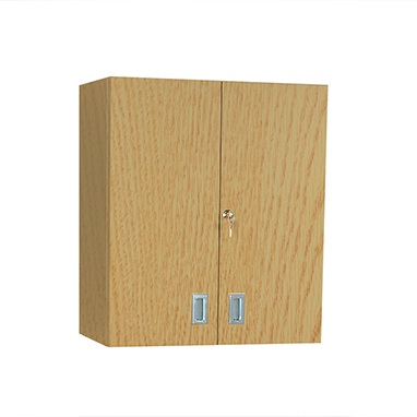 item 5095 - wall cabinet with locking doors, 24 inch wide