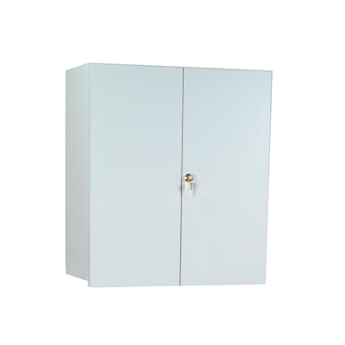 item 5096 - wall cabinet with locking overhang doors, 24 inch wide
