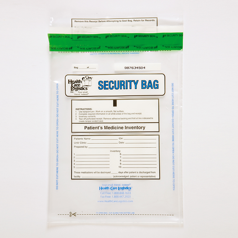 Item 10457 Patients Medicine Inventory Bags 9 X 12 Clear
