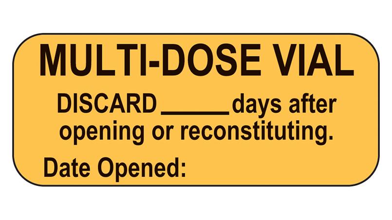 Dating of multidose vials