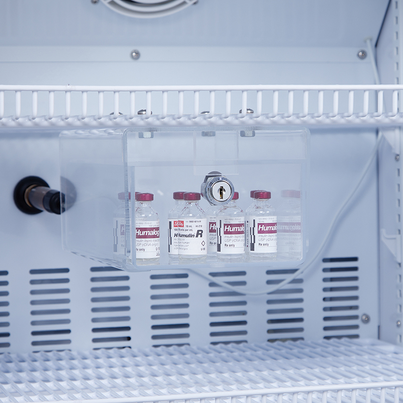 Item 3723 Small Locking Refrigerator Storage Box Acrylic