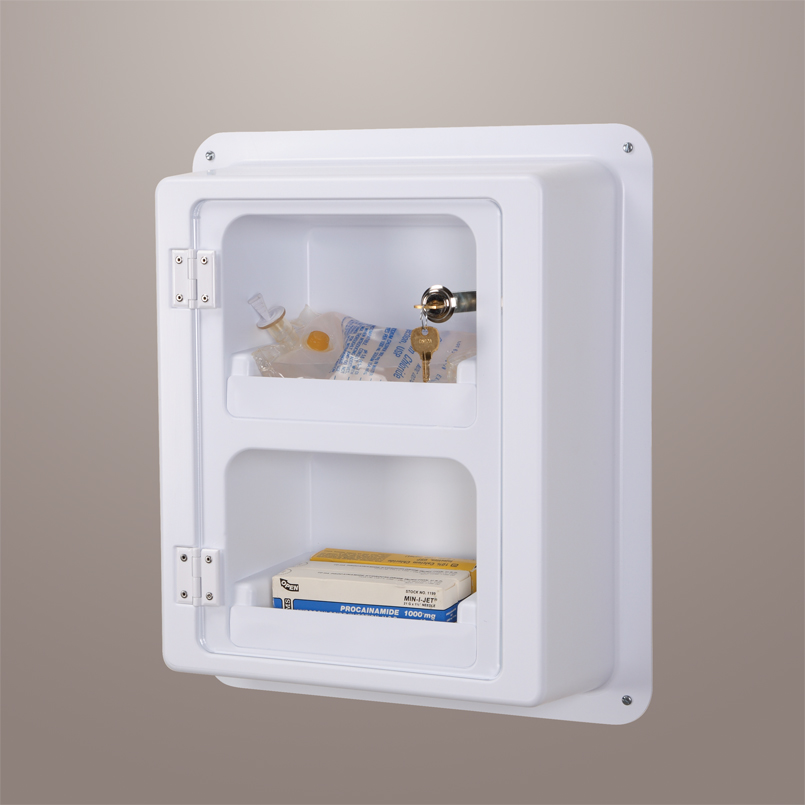 Easy View Locking Wall Cabinet W, Plastic Wall Cabinets