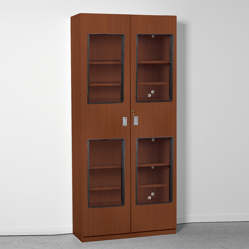 & Item 5068 - Easy Shelving Unit with Windows and Locking Doors