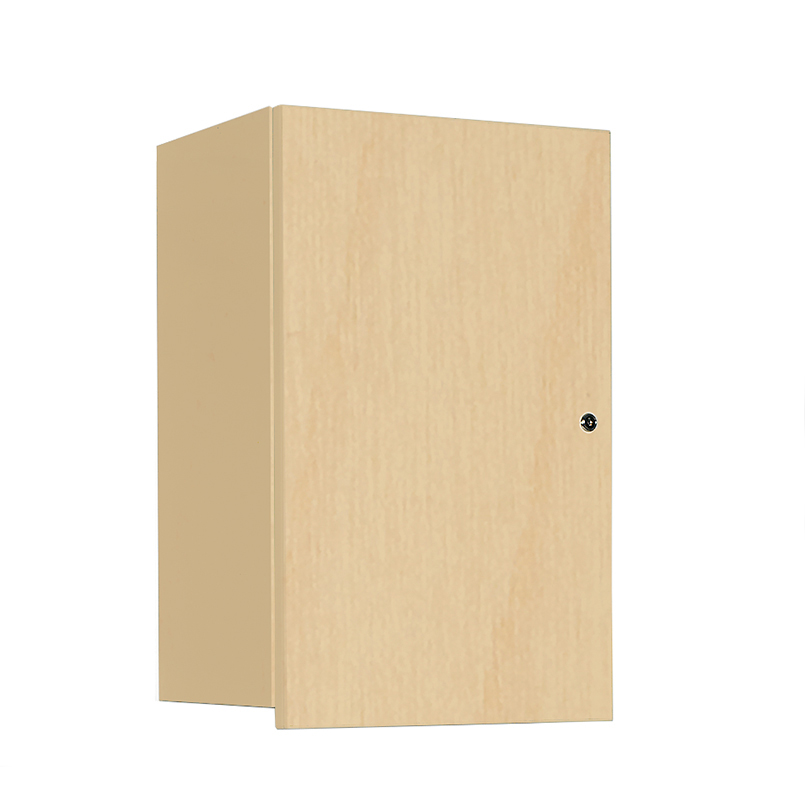 Peachy Item 5092 Wall Cabinet With Locking Overhang Door 18 Inch Best Image Libraries Ponolprimenicaraguapropertycom
