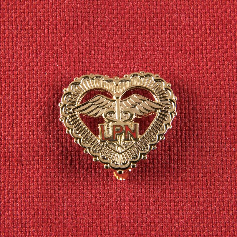 Item NK129 - LPN Heart Lapel Pin